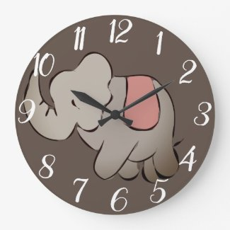 Elephant Large Clock