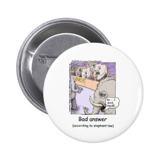 Elephant Lawyers Funny Tees Mugs Cards More Pinback Button