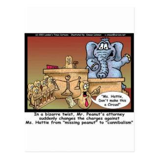 Elephant Legal Trial Greeting Card Postcard