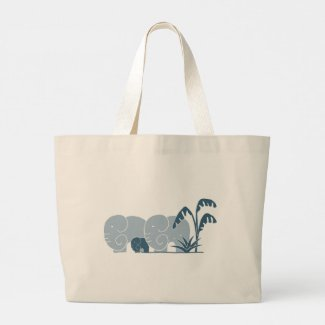 Elephant Life signature giant tote in Blues