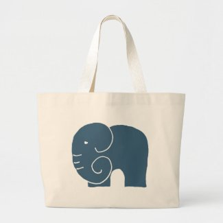 Elephant Life Signature website design Large Tote Bag