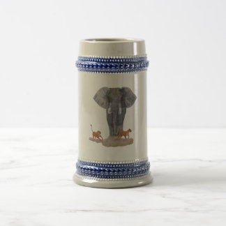 """""""Elephant & Lionesses"""" Beer Stein"""