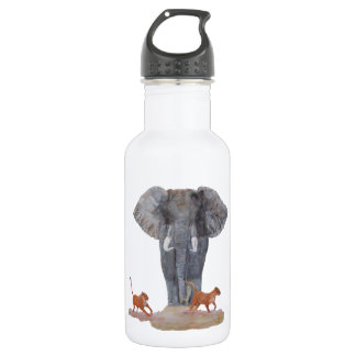 """Elephant & Lionesses"" Stainless Steel Water Bottle"