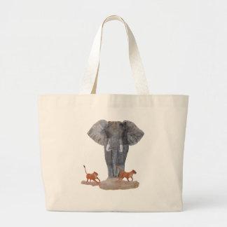 Elephant Lionesses Tote Bag