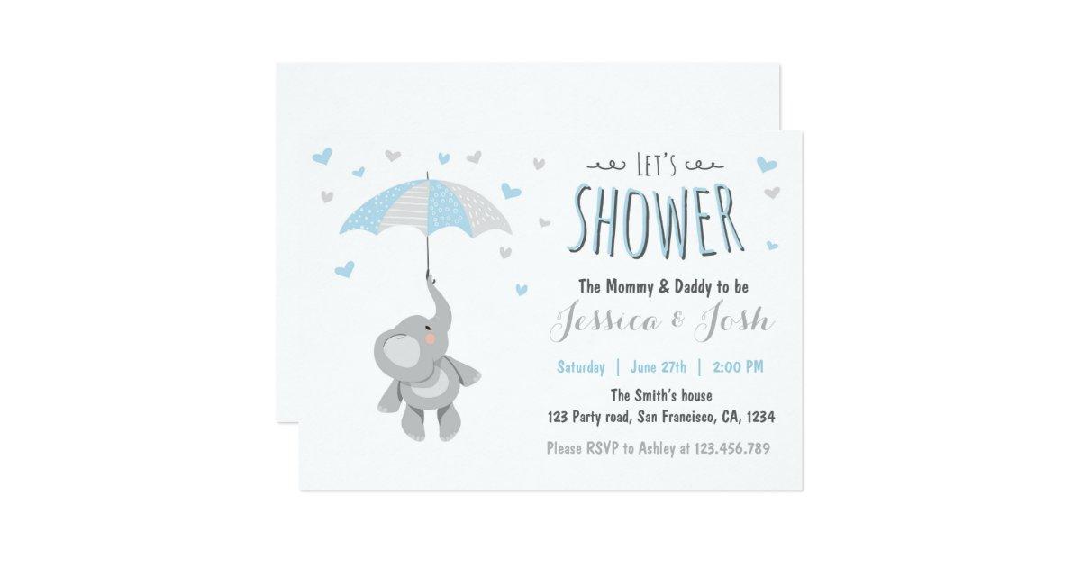 elephant little peanut baby shower invitation zazzle