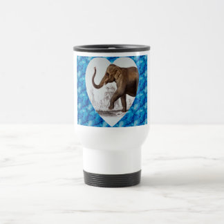 Elephant Love 15 Oz Stainless Steel Travel Mug