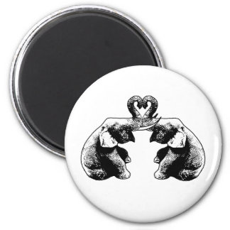Elephant Love 2 Inch Round Magnet