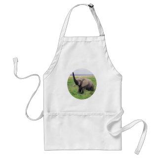 Elephant love adult apron