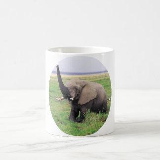 Elephant love classic white coffee mug