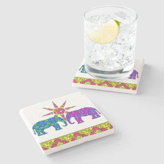 Elephant Love Coaster Stone Beverage Coaster