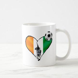 Elephant love Ivory Coast soccer fans gifts Coffee Mug