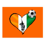 Elephant love Ivory Coast soccer fans gifts Postcards