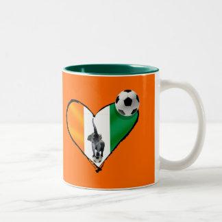 Elephant love Ivory Coast soccer fans gifts Two-Tone Coffee Mug