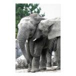 Elephant Love Kiss Peace and joy Custom Stationery