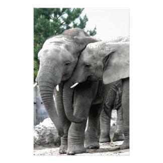 Elephant Love Kiss Peace and joy Stationery
