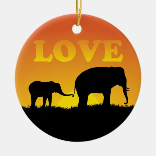 Elephant Love - Ornament