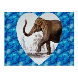 Elephant Love Postcard