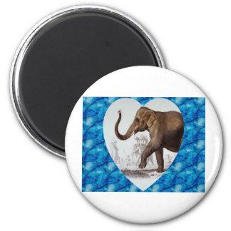 Elephant Love Refrigerator Magnet