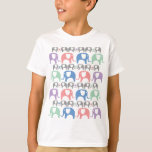 Elephant Love Soft Pastel Pattern with hearts T-Shirt