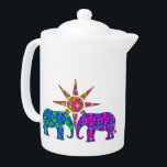 "Elephant Love Teapot<br><div class=""desc"">This whimsical teapot features 2 elephants in the sun. Look for matching elephant cups and mugs by visiting the rest of this shop!</div>"