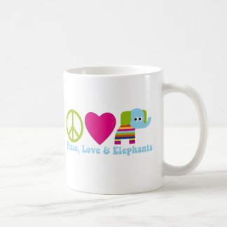 Elephant Love Tees and Gifts - 2 Styles,Great Gift Classic White Coffee Mug