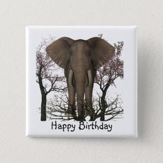 Elephant Lover Birthday Pinback Button