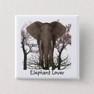 Elephant Lover Pinback Button