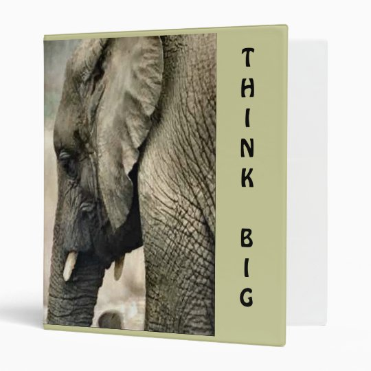 Elephant Lovers Art Gifts Think Big Binder