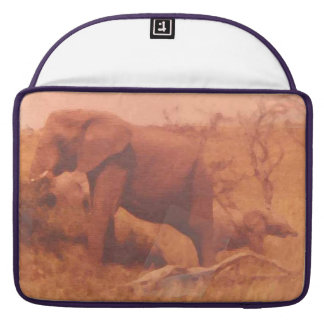 Elephant Mama And Her Cute Baby MacBook Pro Sleeve