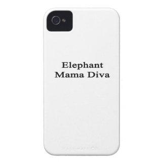 Elephant Mama Diva iPhone 4 Covers