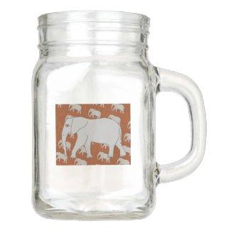 Elephant Mason Jar