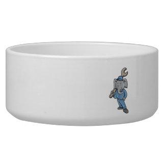 Elephant Mechanic Spanner Standing Cartoon Bowl