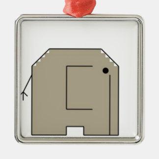 elephant metal ornament