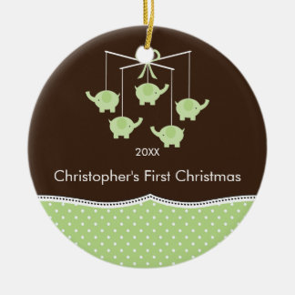 Elephant Mobile Baby's First Christmas Ornament