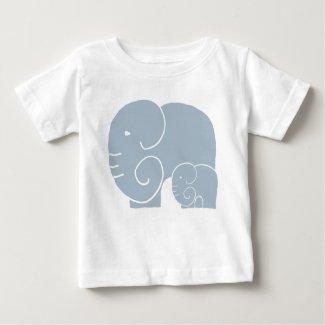 Elephant Mom & Baby Teeshirt Baby T-Shirt