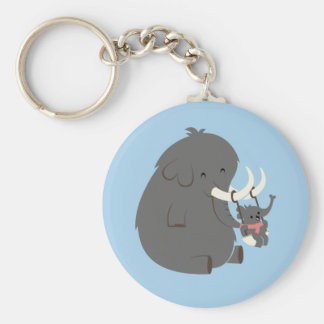 Elephant Mommy and Baby Keychain
