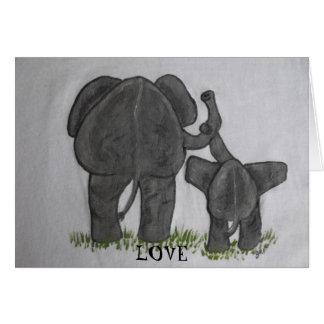 Elephant Mommy & Baby- Truest Love Greeting Card