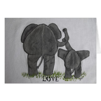 Elephant Mommy & Baby- Truest Love Stationery Note Card