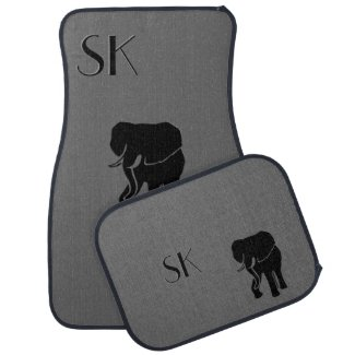 Elephant Monogram Car Floor Mats Car Mat