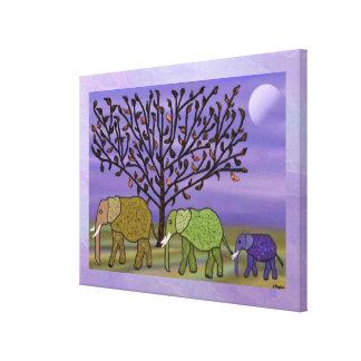 Elephant Moon Canvas Print