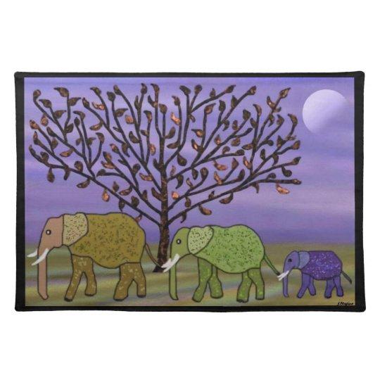 Elephant Moon Custom Placemats