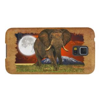 Elephant & Moon II Animal Cell Phone Case Galaxy Nexus Cover