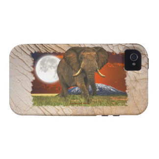 Elephant & Moon on Elephant Hide-effect Phone Case iPhone 4/4S Covers