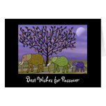 Elephant Moon Passover Greeting Cards