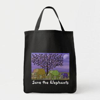 Elephant Moon Tote Bag