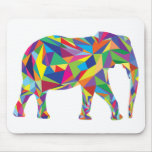 Elephant Mosaic Mouse Pad