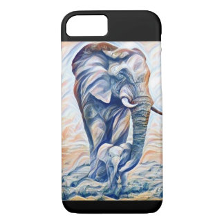 Elephant Mother and calf phone case