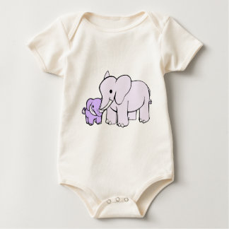 Elephant Mother and child Baby Bodysuit