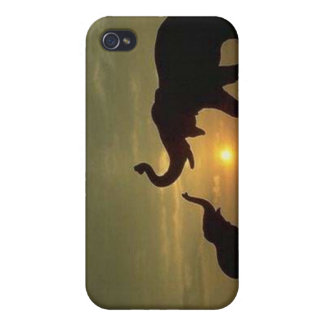 Elephant Mother and Child Cover For iPhone 4