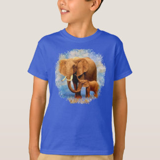 Elephant Mother and Cute Baby Elephant T-shirt
